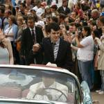Anna Popplewell and Skandar Keynes arrive at the Paris premiere in Paris Disneyland