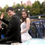Anna Popplewell and Skandar Keynes arrive at the Paris premiere in Paris Disneyland
