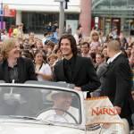 Andrew Adamson and Ben  Barnes arrive at the Paris premiere in Paris Disneyland