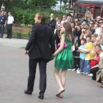 William Moseley and Georgie Henley arrive at the Paris premiere in Paris Disneyland