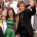 William Moseley and Georgie Henley arrive at the Paris premiere in Paris Disneyland