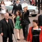 Cast and crew arrive at the Paris premiere in Paris Disneyland