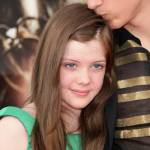 Georgie Henley and William Moseley at the Paris premiere at Paris Disneyland