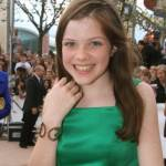 Georgie Henley at the Paris premiere in Paris Disneyland