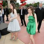 Anna Popplewell and Georgie Henley at the Paris premiere in Paris Disneyland