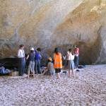 Filming at Cathedral Cove, New Zealand
