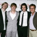 SYDNEY, AUSTRALIA - MAY 25:Andrew Adamson,   William Moseley , Ben Barnes  and Mark Johnson attend the premiere of