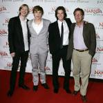 SYDNEY, AUSTRALIA - MAY 25:  Andrew Adamson,   William Moseley , Ben Barnes  and Mark Johnson attend the premiere of
