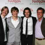 SYDNEY, AUSTRALIA - MAY 25:  Andrew Adamson, William Moseley , Ben Barnes and Mark Johnson attends the premiere of