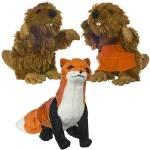 Mini-plush set. Mr and Mrs Beaver and The Fox Plushes