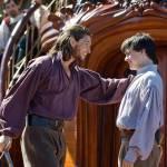 King Caspian greets King Edmund aboard the Dawn Treader