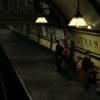 The Pevensies awaiting their train
