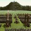 Battle wide shot: Trebuchets