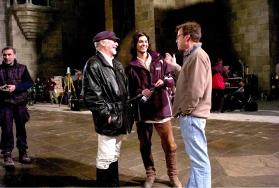 Doug Gresham, Ben Barnes, and Mark Johnson discuss a scene