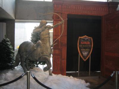 The Narnia Exhibition entrance