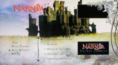 Prince Caspian Disc 1 Menu