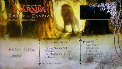 Prince Caspian Disc 2 Menu