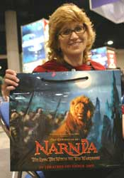 Whitney  Hansen and her Narnia Bag