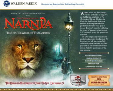 Walden Media's Narnia website