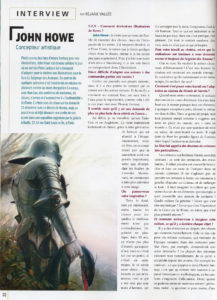 John Howe speaks to French magazine SFX - Page 1