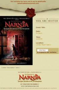 NarniaResources.com Invitation