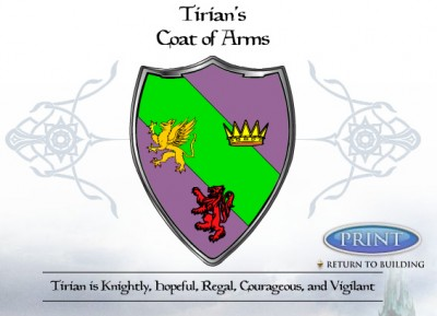 Tirian's Coat of Arms