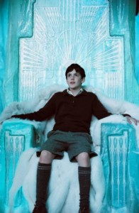 Edmund sits on the Witch's throne
