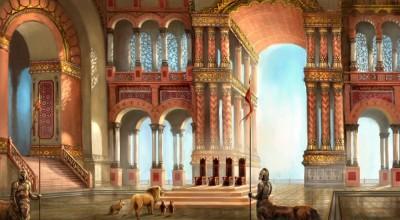 Inside Cair Paravel Concept Art - Henrik Tamm