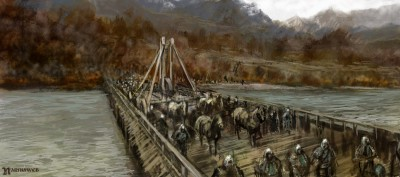 The Telmarines cross the Bridge of Beruna.
