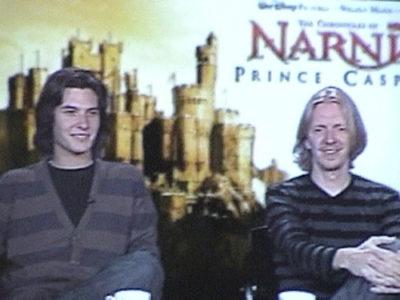 Ben Barnes and Andrew Adamson