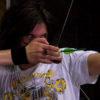 Ben practices archery