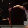 Ben practices fighting