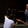 Ben in fight training