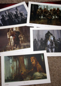 The five prints are printed on watercolor-type paper and are suitable for framing.
