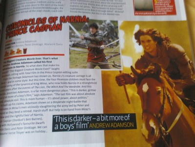 Prince Caspian Article in Total Film Magazine
