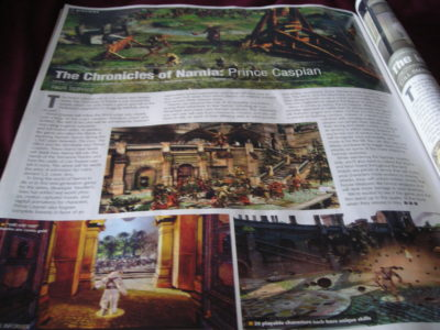 Prince Caspian Game article in Game Informer Magazine