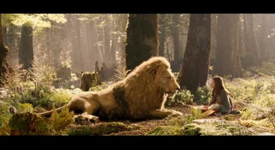 Lucy with Aslan