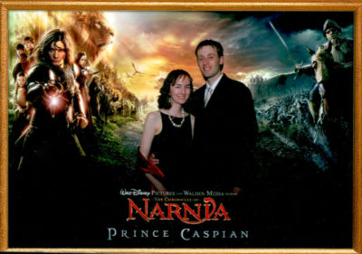 Tirian and Mrs. T at the Prince Caspian Premiere