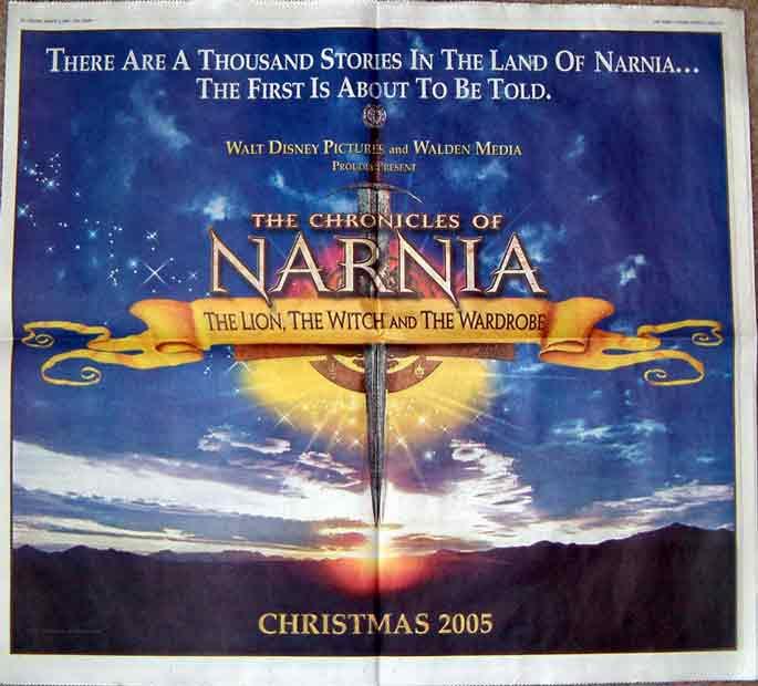 Cast Box Logo: Narnia Ad Runs In Major Newspapers