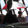 Hanging out under an umbrella ~ Tamara