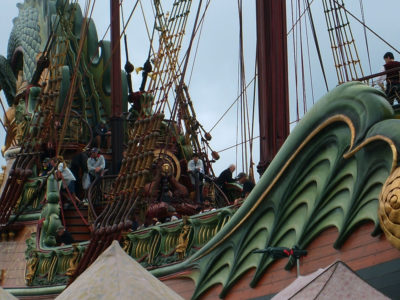 Filming aboard the Dawn Treader ~ Michael