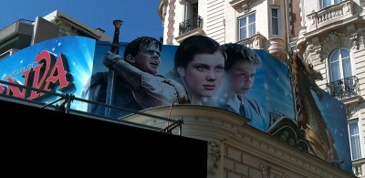 Dawn Treader Banner at Cannes Film Festival