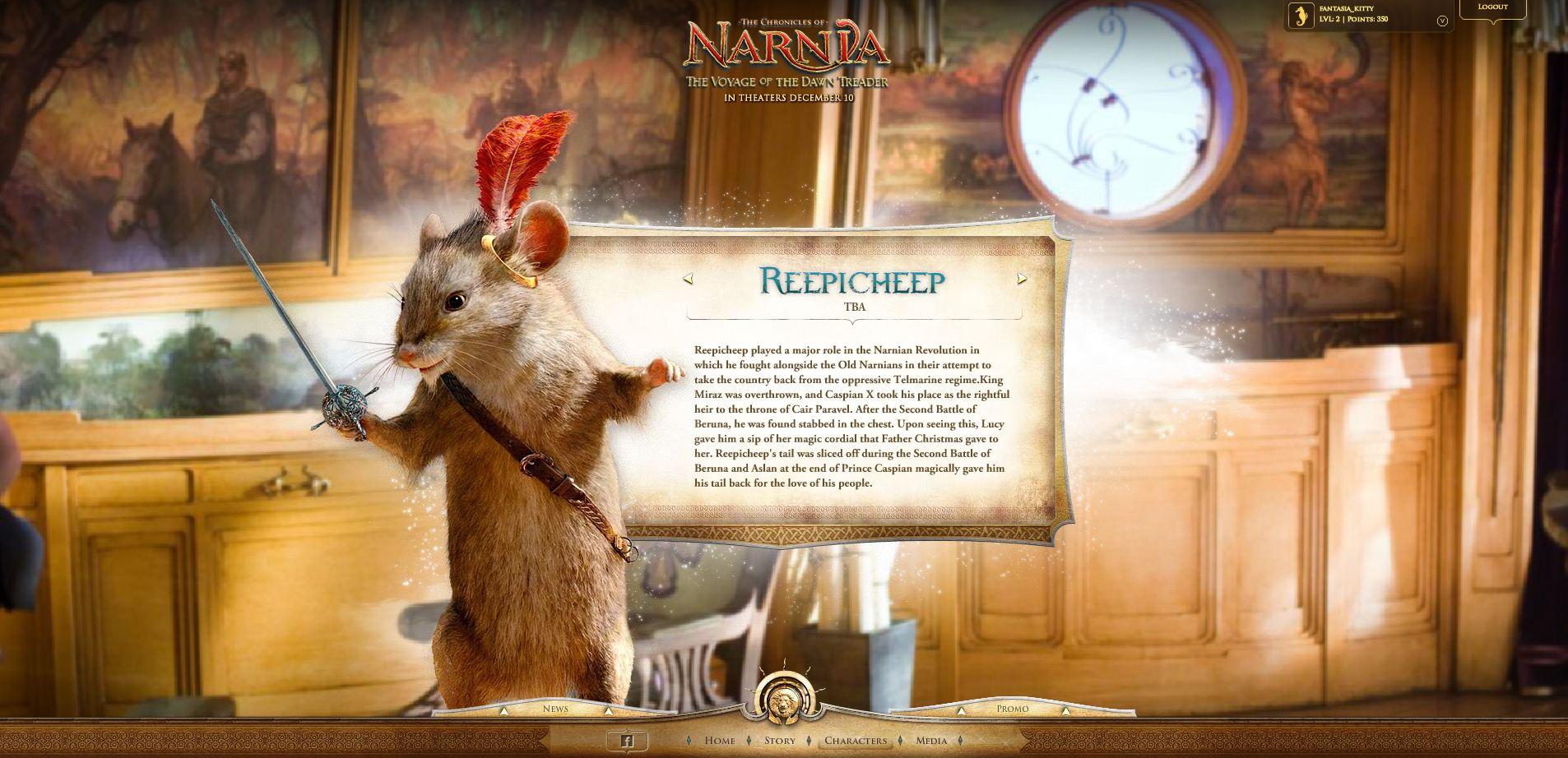 Narnia.com Screenshots   NarniaWeb for Narnia Reepicheep Quotes  110zmd