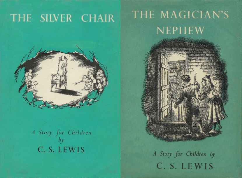 Original cover art quot the silver chair quot 1953 and quot the magician s