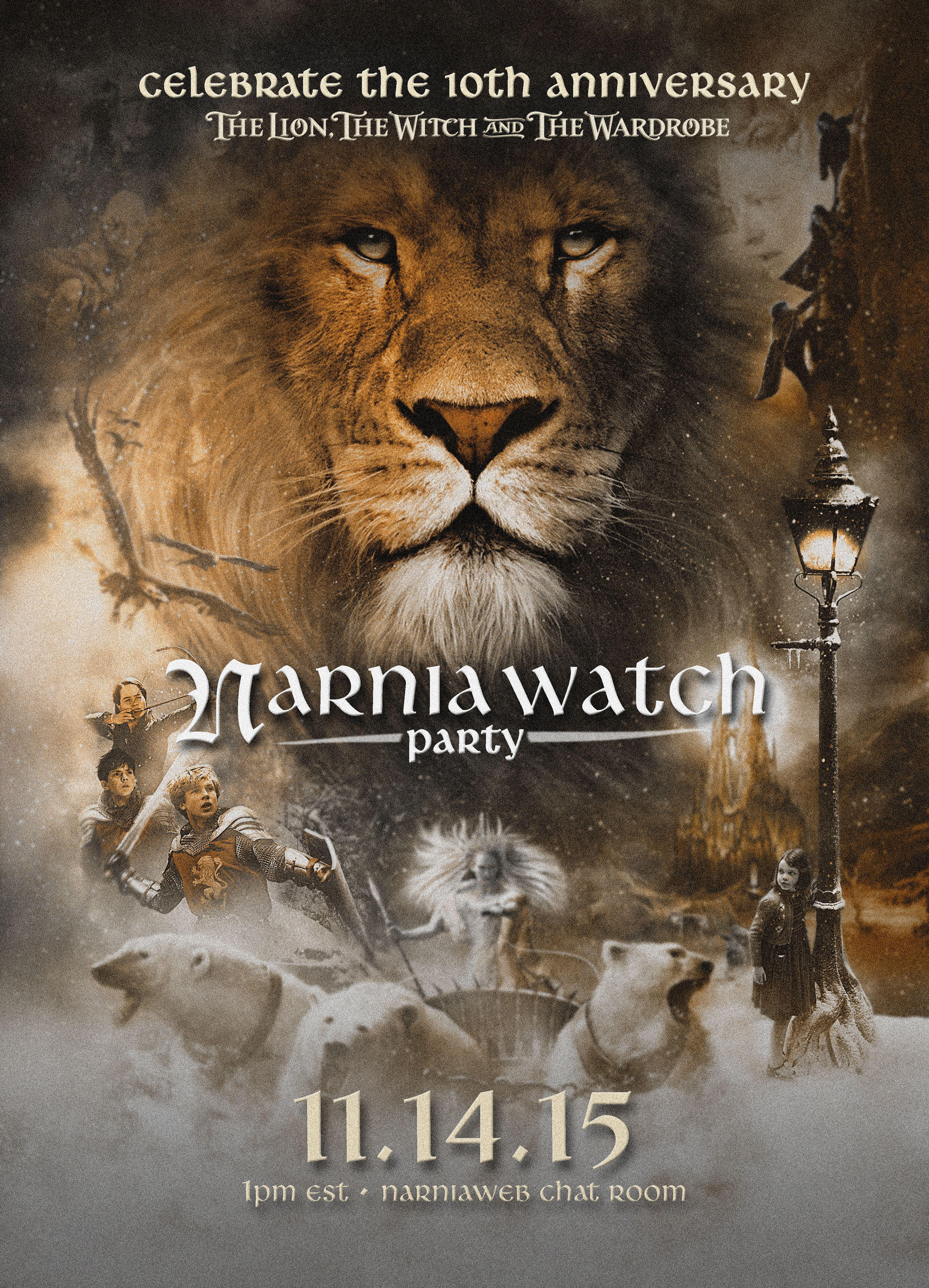 Narnia Watch Party Event on November 14